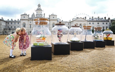 The BFG Dream Jars at Horse Guards Parade