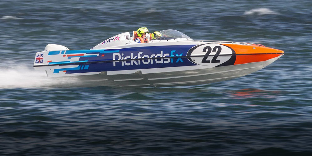 Bumpy ride for the Pickfords powerboat!