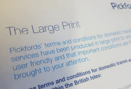 Pickfords large small print