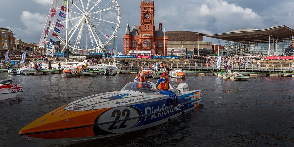 Pickfords powerboat Cardiff Bay